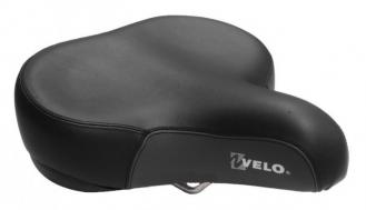 Седло Velo VL-8080 Cruiser рамка-сталь,пружины,черно-серое,гелевая вставка,882гр.