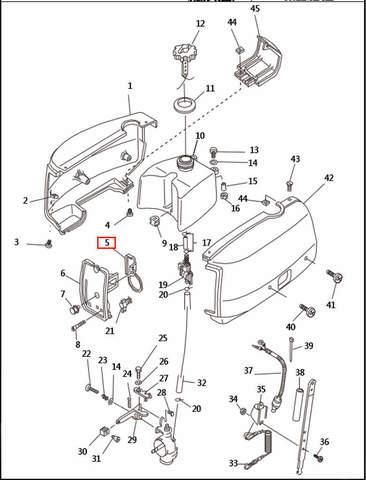 Фиксатор панели  для лодочного мотора T2,5 SEA-PRO (1-5)