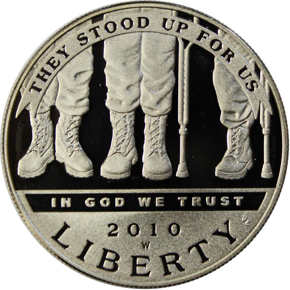 1 доллар США Инвалиды войны (W) 2010 год PROOF Серебро