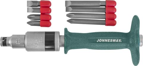 AG010139 Ударная отвертка SL 8,10 (36,80 мм) PH#2,3 (36,80 мм),  5 предметов