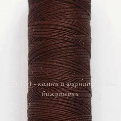 Нить шелковая Gutermann для вышивки, коричневая, 100 м