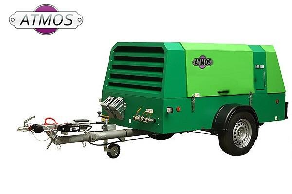 Дизельный компрессор ATMOS PD 90 на шасси 7 бар 11600 л/мин