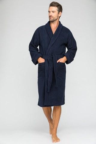 Мужской банный халат King Power 303 синий