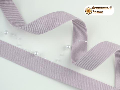 Лента вельвет двухсторонний сухая лаванда 25 мм
