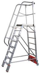 Лестница с платформой VARIO Kompakt, траверса 1365  9 ступ.