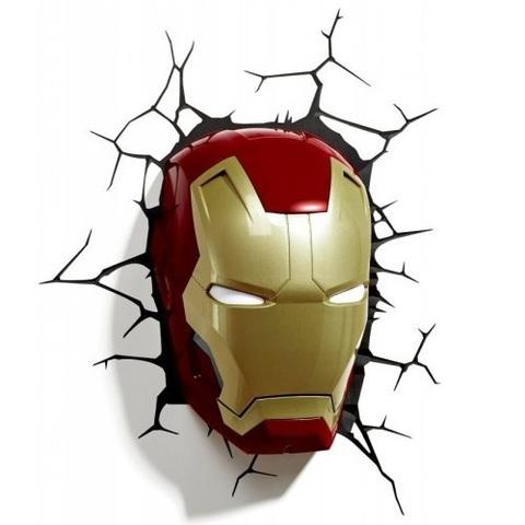 Светильник 3D Classic Iron Man Mask