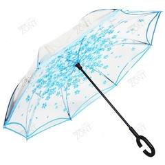 Умный зонтик прозрачный купол голубые лепестки, механика