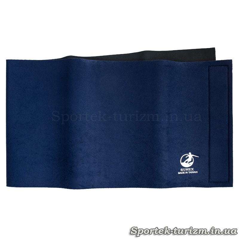 Пояс для похудения SUNEX 31*102 см неопрен на липучке (темно-синий)