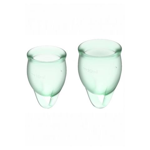 Satisfyer Feel confident Набор менструальных чаш Светло-зеленый