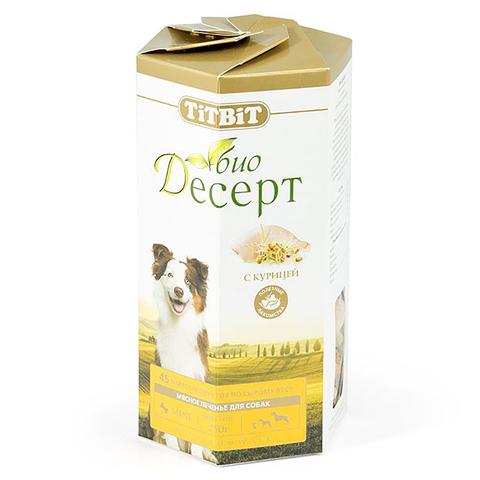 Titbit Био Десерт Лакомство для собак печенье с курицей стандарт