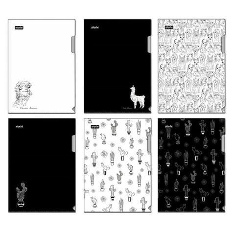 Папка уголок Attache Selection Llamas, 6шт/уп, в ассортименте