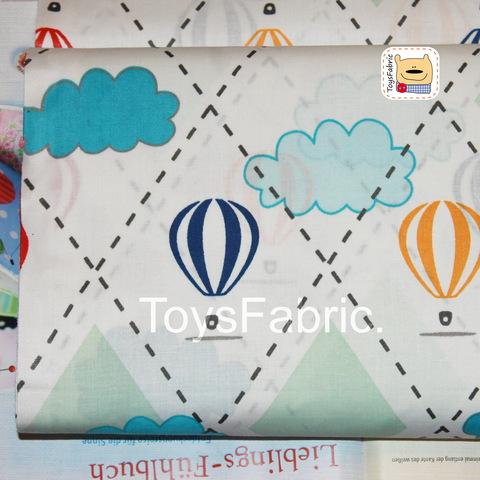 Ткань польский хлопок П149 Воздушные шары (80х50см)