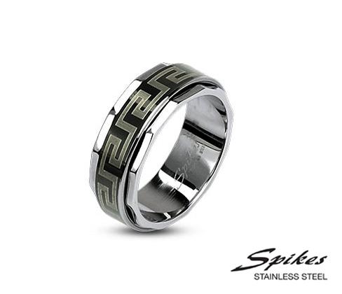 R-H1590M Мужское кольцо «Spikes» из стали с орнаментом
