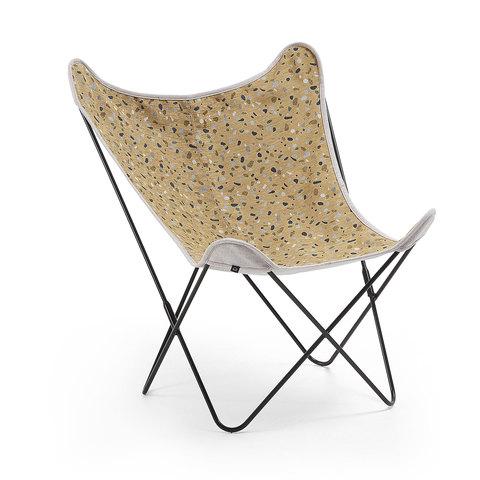 Кресло Flynn ткань terrazzo горчица