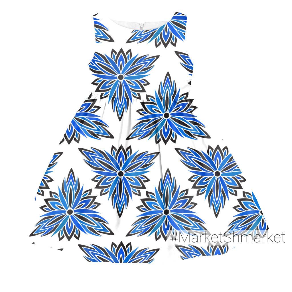 Синева цветочного орнамента