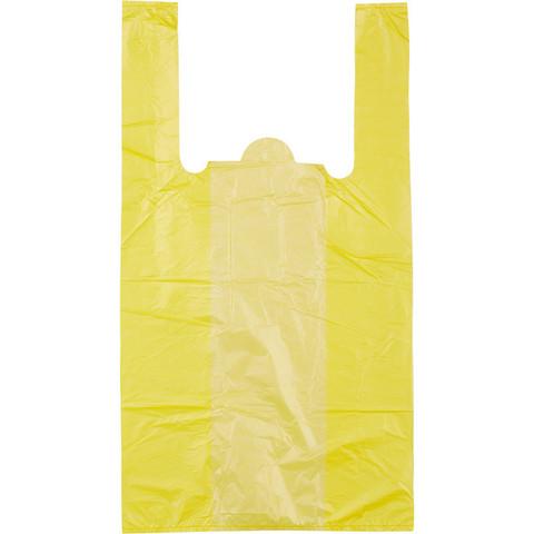 Пакет-майка Знак Качества ПНД цветной 15 мкм (30+18x55 см, 100 штук в упаковке)