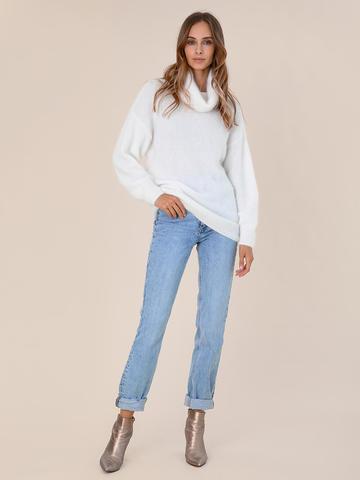 Женский свитер молочного цвета из ангоры - фото 5