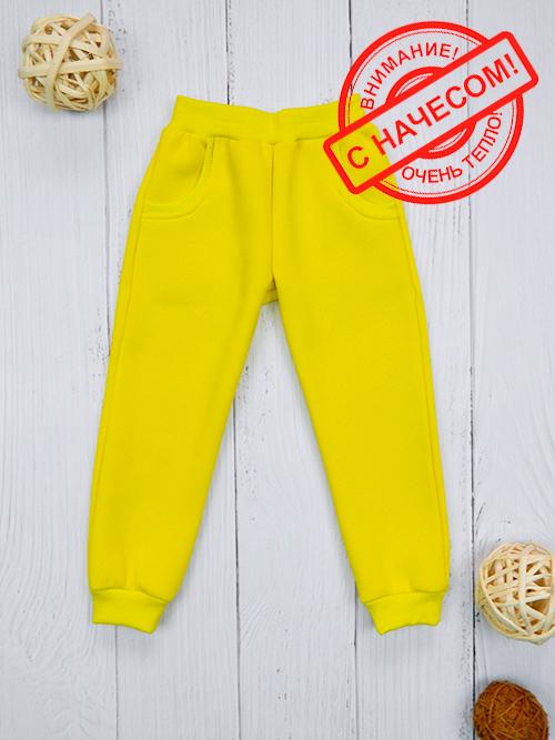 Брюки с карманами, 2401н, желтые