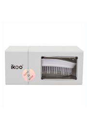 Ikoo Расческа-детанглер для бережного расчесывания волос классическая белая Home White Classic