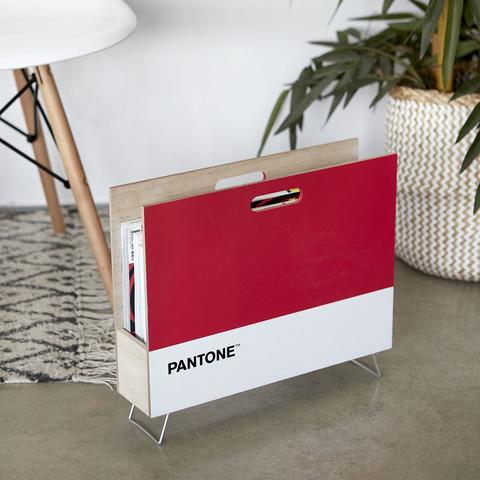 Газетница Pantone красная