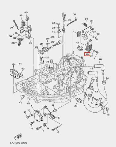 Выпрямитель-регулятор для лодочного мотора F20 Sea-PRO (12-10)