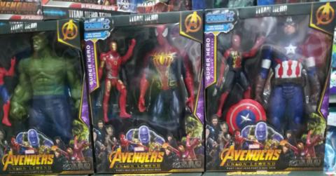 Набор из 3 супергероев