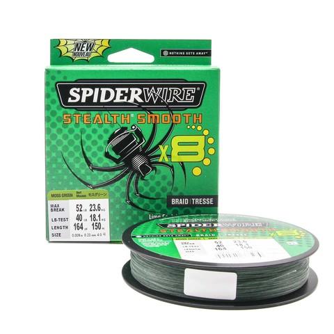 Плетеная леска Spiderwire Stealth Smooth 8 Braid Темно-зеленая 150 м. 0,23 мм. 23,6 кг.