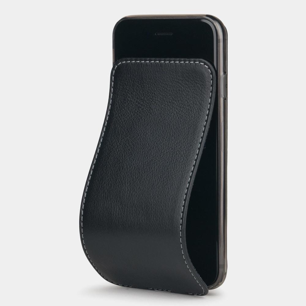 Чехол для iPhone SE/8 из натуральной кожи теленка, черного цвета