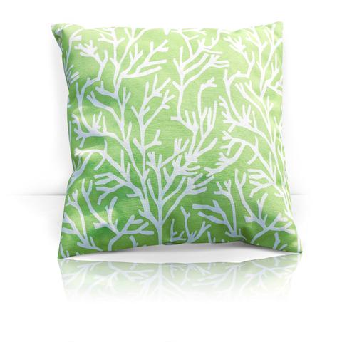 Подушка декоративная Кораллы зеленый уличная коллекция