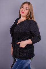 Хіт. Модний жіночий кардиган plus size. Сірий.