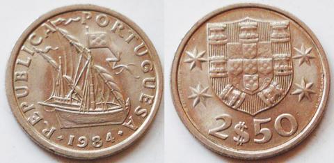 Португалия 2-1/2 эскудо