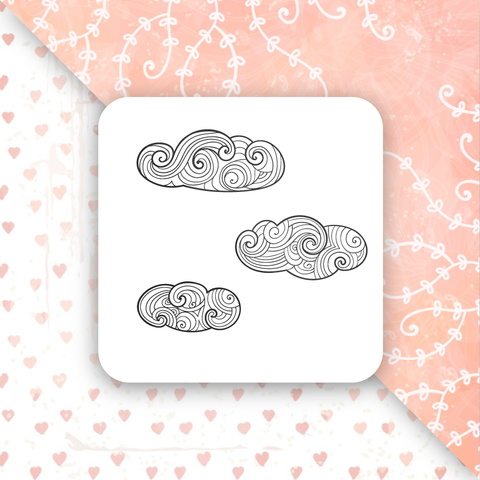 Штамп резиновый Волшебные облака