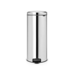 Мусорный бак newicon (30 л), металлическое внутреннее ведро, Стальной полированный
