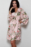 Цветочный халат из вискозы B&B