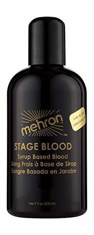 MEHRON Кровь искусственная Stage Blood - Dark Venous 9 oz. (Темная венозная), 270 мл