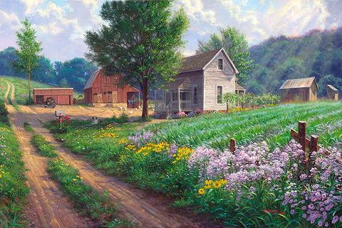 Картина раскраска по номерам 50x65 Домашнее хозяйство