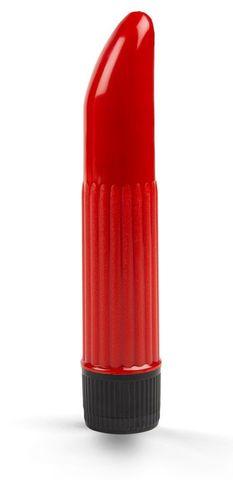 Красный мини-вибратор - 11,5 см.