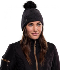 Шапка вязаная с флисом Buff Hat Knitted Polar Disa Black - 2