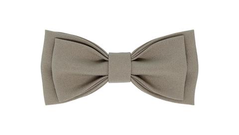 Однотонный галстук - бабочка (бледно-коричневый)
