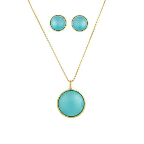 Комплект pearl blue sky agate S1565.21 B/G