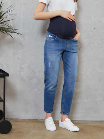 Джинсы для беременных Chic mama Синий
