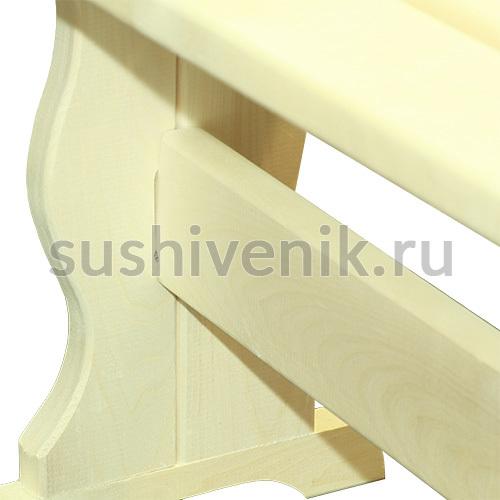 Скамья 120*30*44 см для бани и сауны