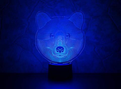 3D ночник Медведь