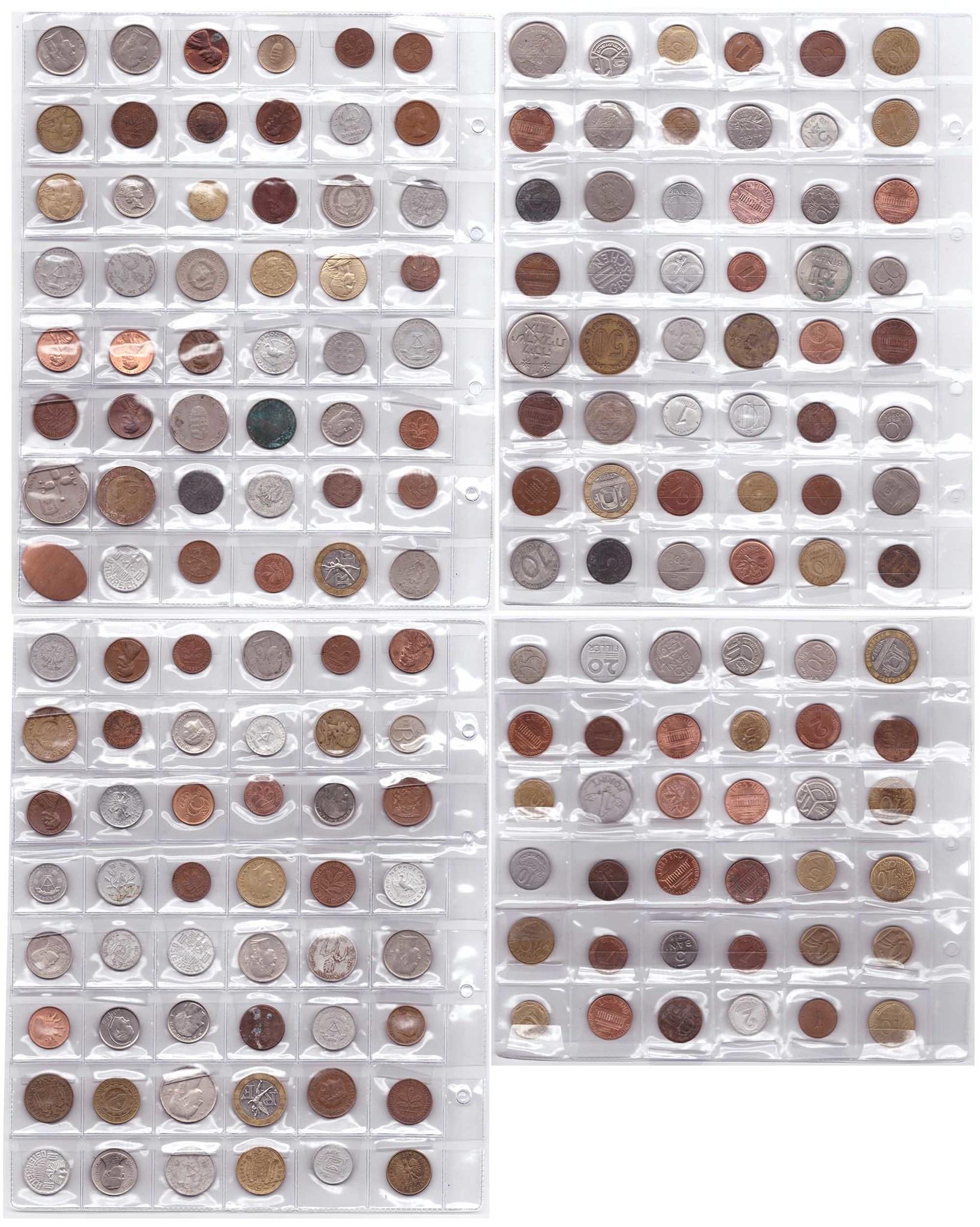 Мультилот. Набор из 174 иностранных монет