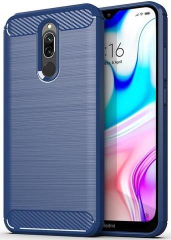 Чехол для Xiaomi Redmi 8 цвет Blue (синий), серия Carbon от Caseport