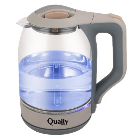 Чайник электрический Qually KL-1880,1500Вт 1,8л,стекло,серебристый