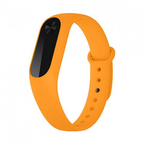 Силиконовый ремешок для Xiaomi Mi Band 2 (оранжевый)