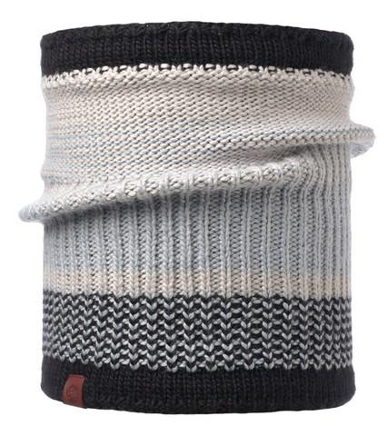 Шарф-труба вязаный с флисом Buff Comfort Borae Grey фото 1