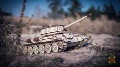Танк Т-34 от EWA - Деревянный конструктор, 3D пазл, сборная модель, военная техника