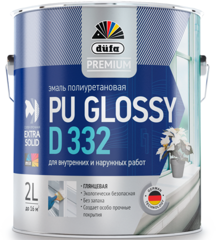 Dufa PREMIUM PU GLOSSY D332/Дюфа Премиум ПУ Глосси Д332 эмаль универсальная